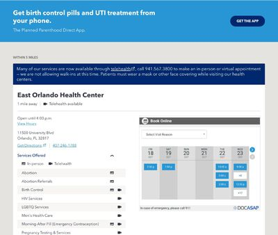STD Testing at Planned Parenthood of Southwest and Central Florida- Downtown Orlando Health Center