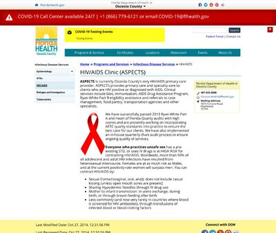 STD Testing at ASPECTS -Florida Department of Health in Osceola County