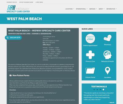 STD Testing at Midway Specialty Care Center, West Palm Beach, Jennifer Kuretski DNP APRN