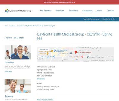 STD Testing at Bayfront Health Medical Group - OB/GYN - Spring Hill