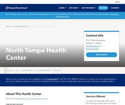 STD Testing at North Tampa Health Center