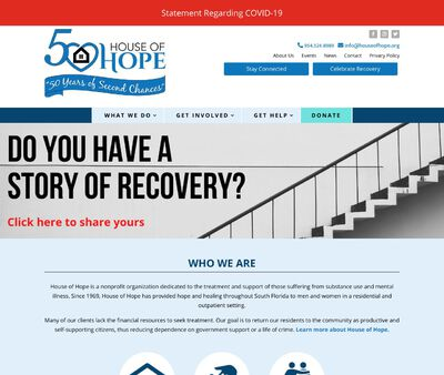 STD Testing at House of Hope and Stepping Stones