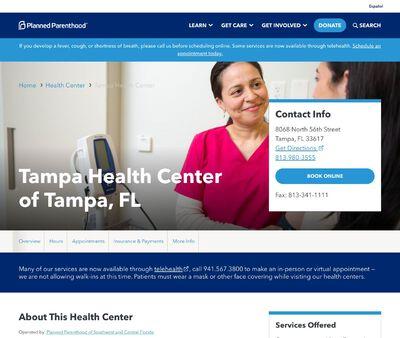 STD Testing at Tampa Health Center of Tampa, FL