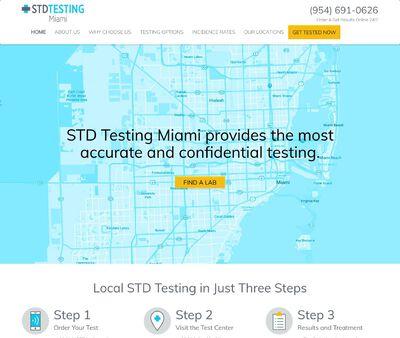 STD Testing at STD Testing Miami