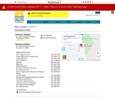 STD Testing at Brevard County Health Department