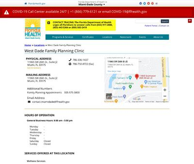 STD Testing at West Dade Family Planning Clinic