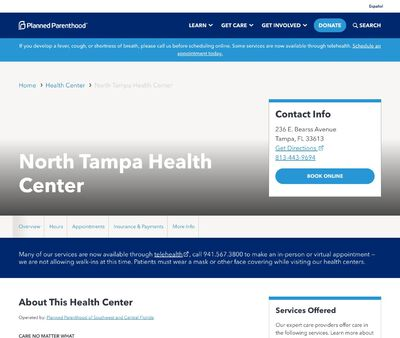 STD Testing at Planned Parenthood - North Tampa Health Center