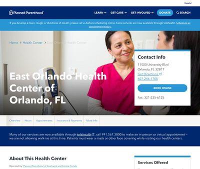 STD Testing at Planned Parenthood- East Orlando Health Center