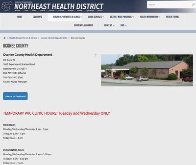STD Testing at Oconee County Health Department