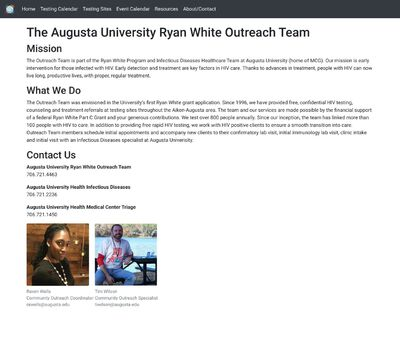 STD Testing at Augusta University Ryan White Outreach Team (CSRA Safety Net)