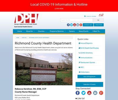 STD Testing at Georgia Department of Public Health (Richmond County Health Department)