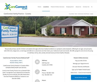STD Testing at CareConnect Health (Cusseta Family Practice)