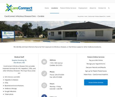 STD Testing at CareConnect Infectious Disease Clinic, Cordele