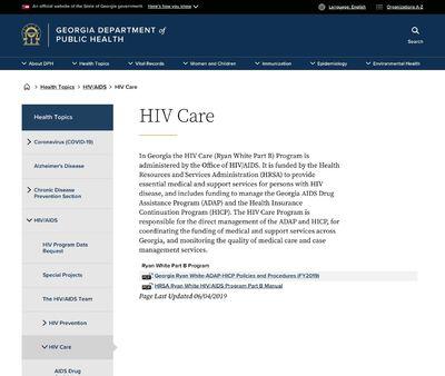 STD Testing at Georgia Department of Public Health HIV Care