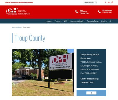 STD Testing at Troup County Health Department
