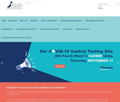 STD Testing at Fulton County Department of Health and Wellness