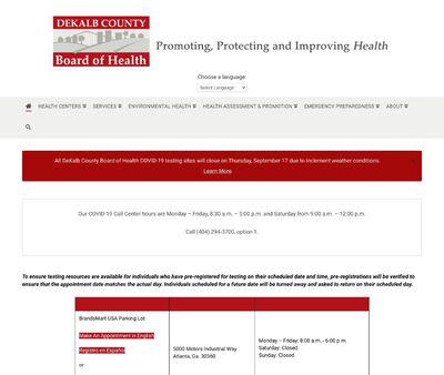 STD Testing at DeKalb County Board of Health