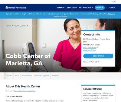 STD Testing at Planned Parenthood - Cobb Centre of Marietta, GA