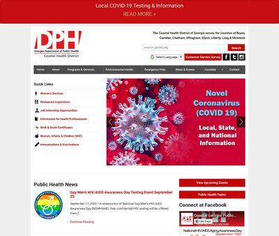 STD Testing at Georgia Department of Public Health - Coastal Health District