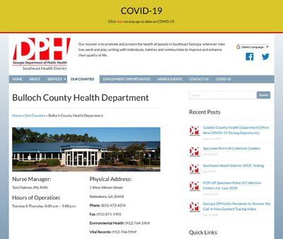 STD Testing at Bulloch County Health Department