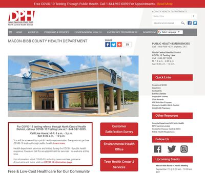 STD Testing at North Central Health District (Macon-Bibb County Health Department