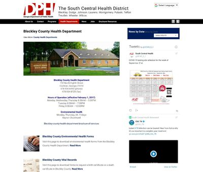 STD Testing at South Central Health District (Bleckley County Health Department)