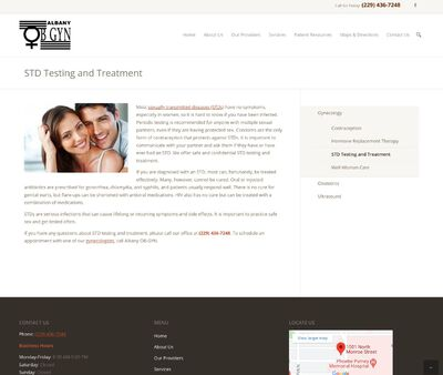 STD Testing at Albany OB-GYN