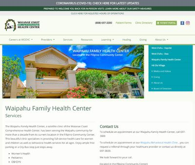 STD Testing at WaipahuFamily Health Center