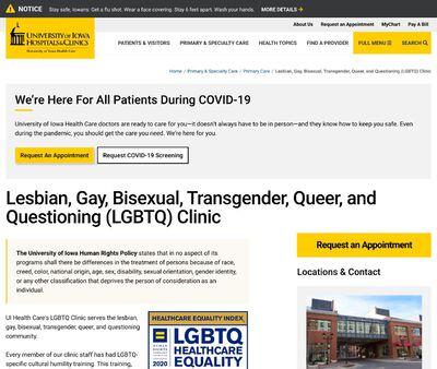 STD Testing at University of Iowa Hospitals and Clinics (University of Iowa LGBTQ Clinic)