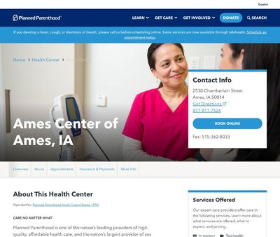 STD Testing at Planned Parenthood - Ames Health Center