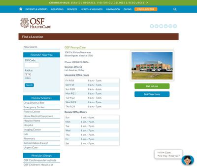 STD Testing at OSF PromptCare: Nord Farms
