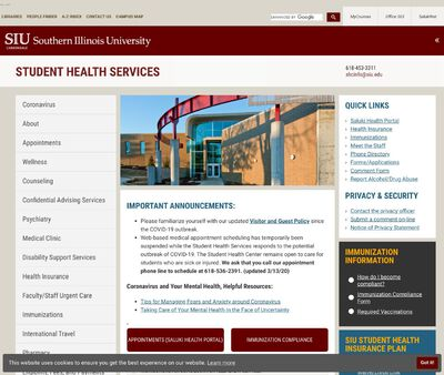 STD Testing at SIU Student Health Services