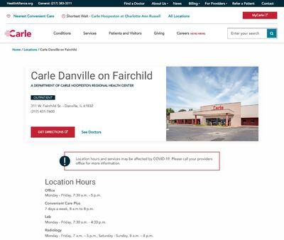 STD Testing at Carle Danville on Fairchild