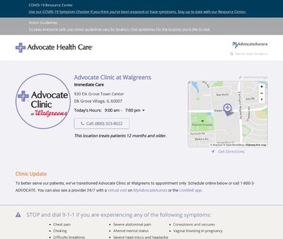 STD Testing at Advocate Clinic at Walgreens