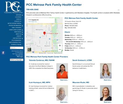 STD Testing at PCC Melrose Park Family Health Center