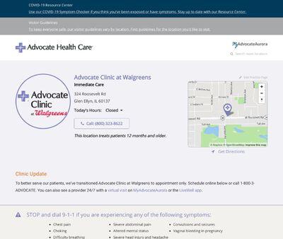 STD Testing at Advocate Clinic at Walgreens