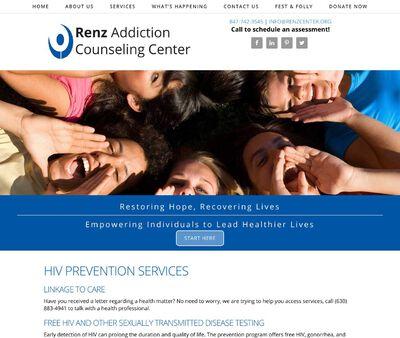 STD Testing at Renz Addiction Counseling Center, HIV Prevention Program