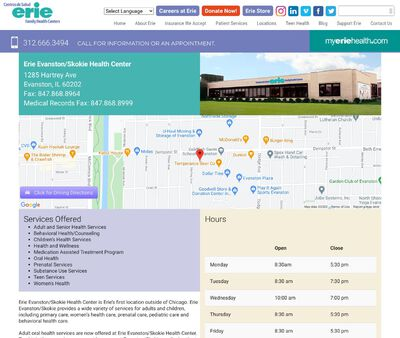 STD Testing at Erie Family Health Center Incorporated (Erie Evanston/Skokie Health Center)