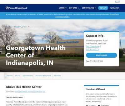 STD Testing at Georgetown Health Center of Indianapolis, IN