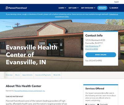 STD Testing at Planned Parenthood - Evansville Health Center