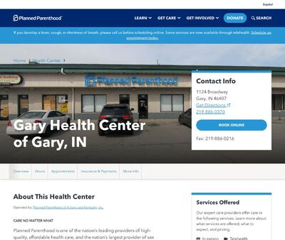 STD Testing at Planned Parenthood-Gary Health Center of Gary, IN