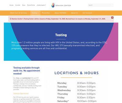 STD Testing at Damien Center