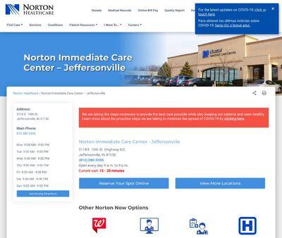 STD Testing at Norton Immediate Care Center