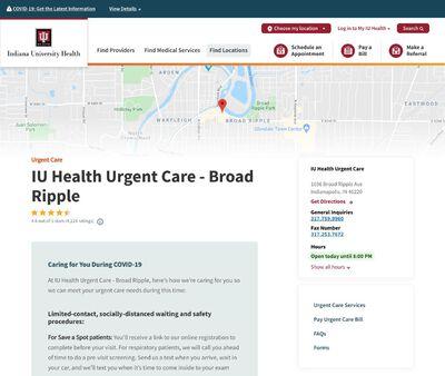 STD Testing at IU Health Urgent Care - Broad Ripple