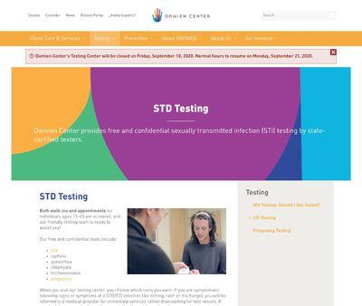 STD Testing at The Damien Center