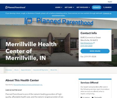 STD Testing at Planned Parenthood - Merrillville Health Center