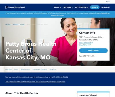 STD Testing at Planned Parenthood of Patty Brous Health Center of Kansas City, MO