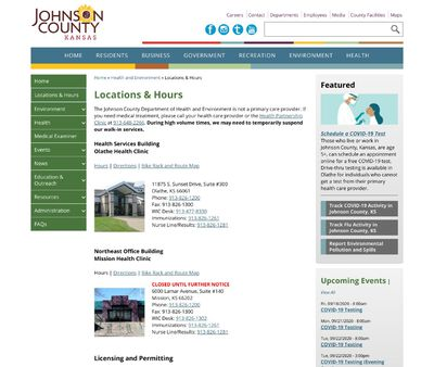 STD Testing at Johnson County Department of Health and Environment (Mission)