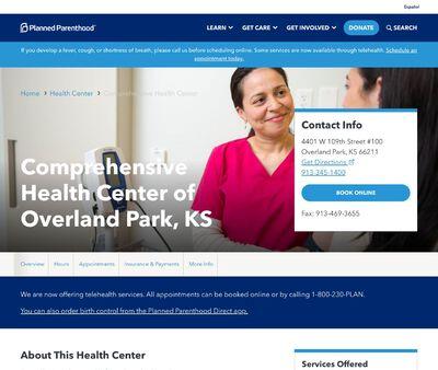 STD Testing at Planned Parenthood - Comprehensive Health Center of Overland Park, KS