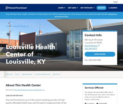 STD Testing at Planned Parenthood - Louisville Health Center of Louisville, KY